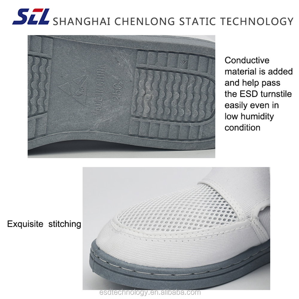 Polyester Mesh and Canvas Upper Breathable Permanent ESD Shoes