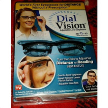 Adjust Eyesight Dial Vision Glasses for watching TV Reading book