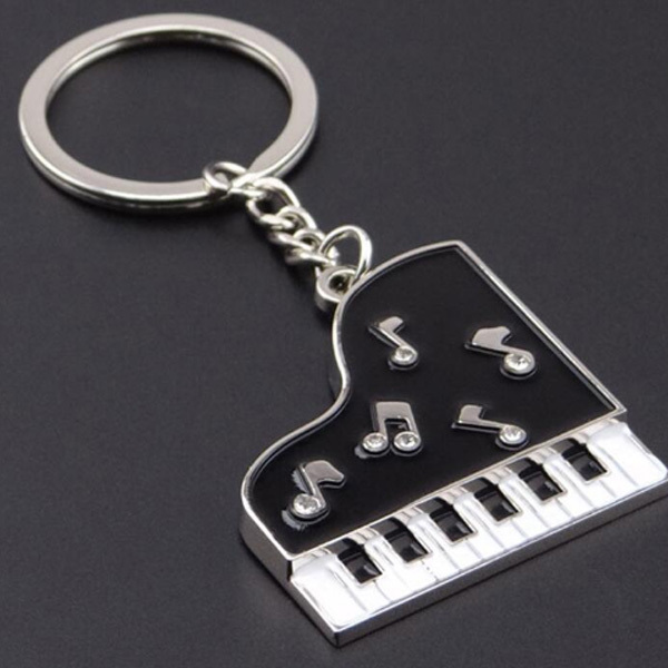 2018 Custom Metal Keychains Wholesale music Piano Shaped Key Chain
