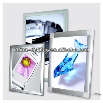 2015 Hot sale a1,a2,a3,a4 aluminum snap frame super slim LED light box for advertising