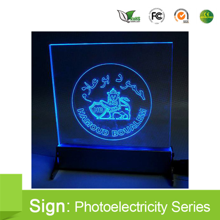 led acrylic sign base stand