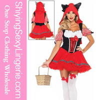 The Sexy Red Riding Wolf japanese girl Womens Costume