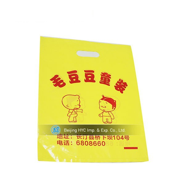 Fashion shopping pvc plastic bags with DIY logo printing