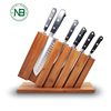 ,Slotless Knives Holder Storage Stand Kitchen Knives Organizer Bamboo Knife Block