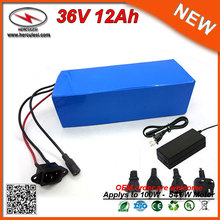 Expert Manufacturer of Rechargeable 36V 12Ah 400W 540W Lithium ion Battery Pack for Ebike with 15A BMS