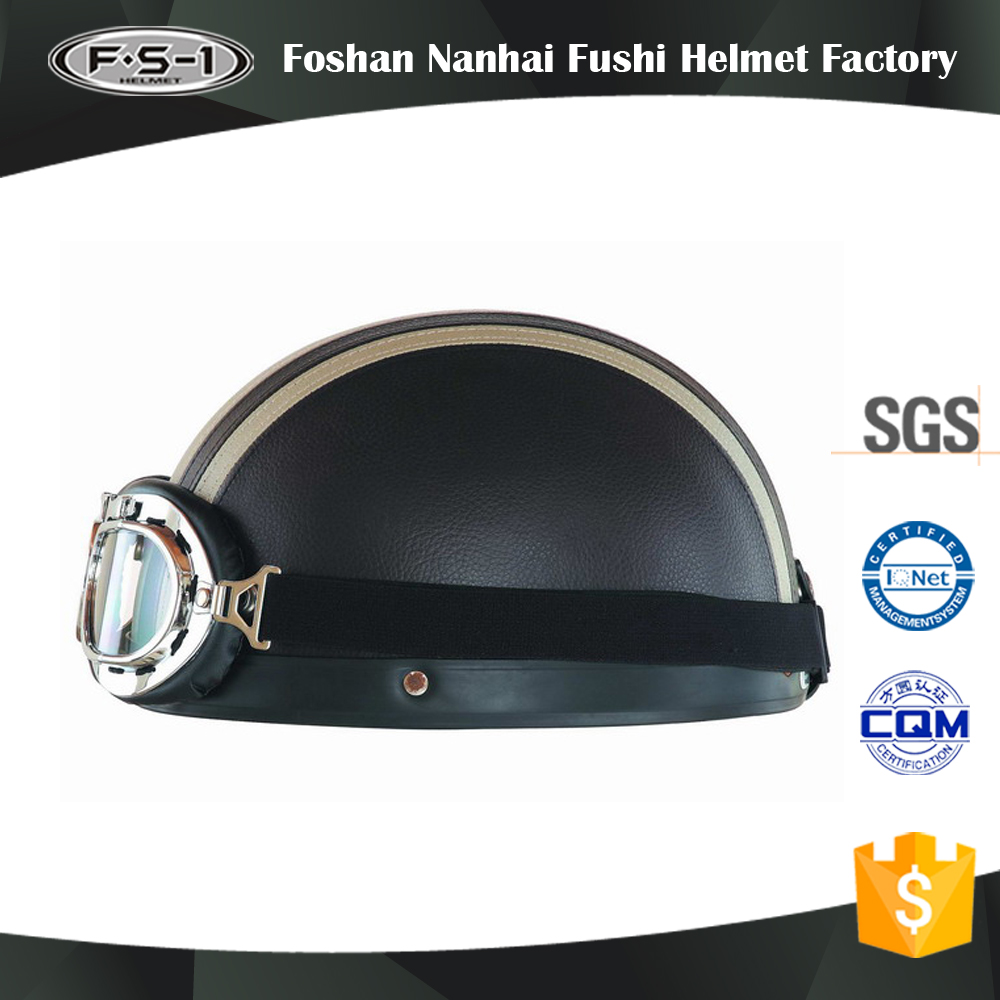 Cheap price helmets motorcycle Vintage leather half face motorbike helmet for sale