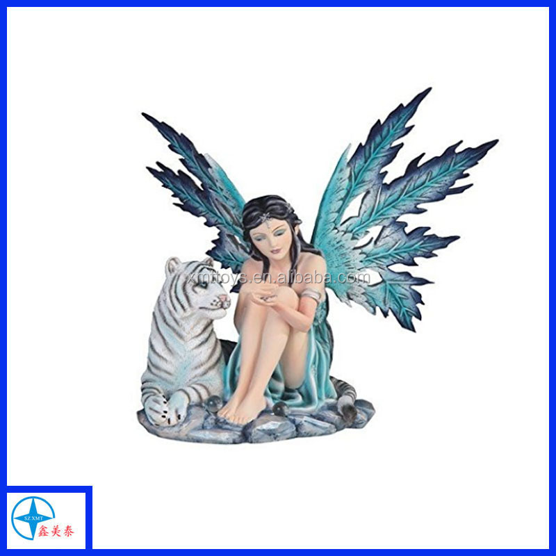 Flower Fairy Tale Statue Figurine Home Decor Butterfly Cute Ornament Collectible