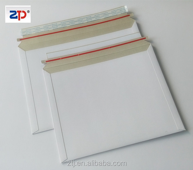 White cardboard document Envelopes 100% recycled