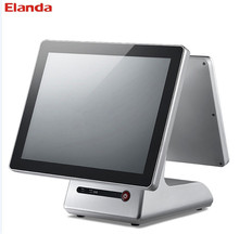 Elanda OEM/ODM pos manufacturer 15 inch all in one touch double screen restaurant pos system