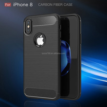 Duck New brushed TPU case For iphone X carbon fiber case cover for iphone X soft tpu cover