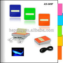 continuous pumping paper sticky notes box usb hub