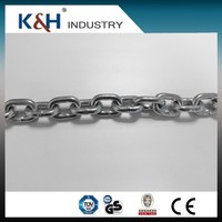 Professional Kunhong High Quality galvanized DIN5685 5mm stainless steel short link chain