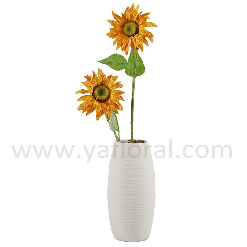 Artificial cheap silk rose silk fabric wholesale artificial flowers sun flower 002g mightylinksfo