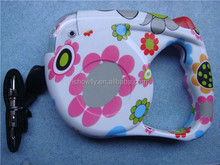 hydrographics transfer flower printed 5 Meters nylon Automatic retractable dog leash