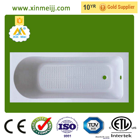 Cheap small simple acrylic drop in plastic bathtub for adult