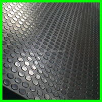 sbr black round dot/stud/coin rubber sheet