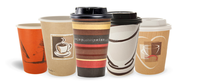 popular company logo custom printed Logo paper cup for coffee with paper lid, disposable cup paper price