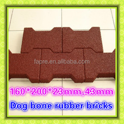 2016 supplier of dog bone rubber brick paver mat for horse shed