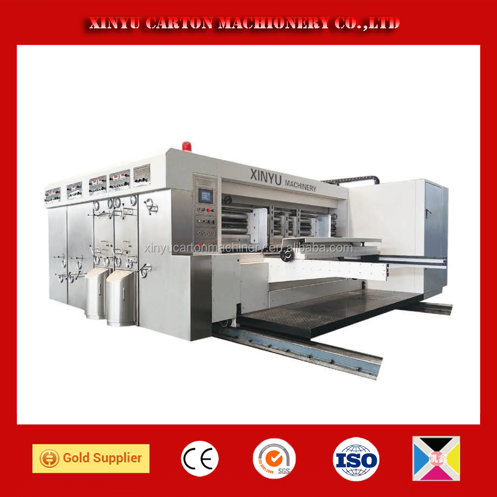 slotter rotary die cutter printer machine used cardboard boxes manufacturers