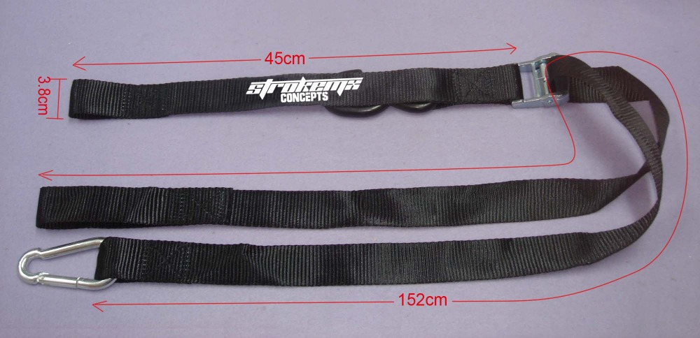 High promotion! big discount factory price 38MM / 1.5'' black metal cam buckle tie down strap