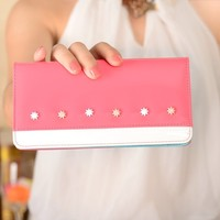 Concise elegant women Wholesale popular design ladies clutch purse/wallet