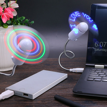 Custom flexible LED Flash Words mini usb driver led message fan
