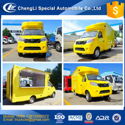 CLW Mobile FAST Food Trucks 4x2 Dongfeng moving Dining Van truck Outdoor Street kitchen car Mini food catering CART for sale