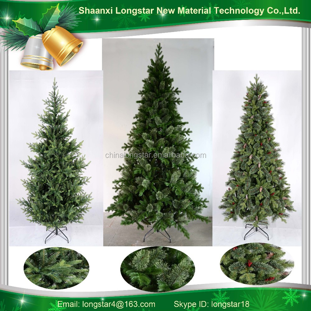 7ft' New Design Hot Sale PE / PVC Christmas Tree Tighted