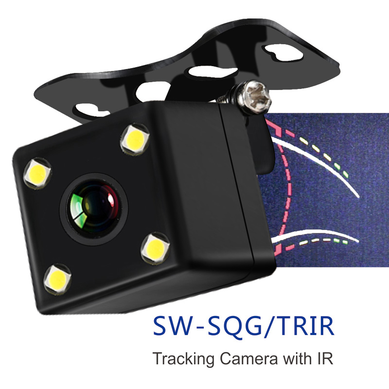 New tracking line IR car backup camera with moving warning line camera car