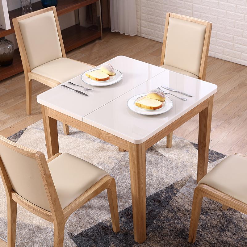 Tamaño pequeño 0,8-1,2 m de alto brillo mesa de comedor extensible ...