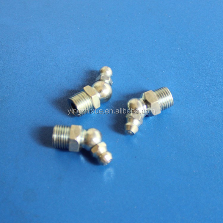 "9.5mm 3/8"" Male Thread 45 Degree Angle Zerk Fitting Grease Nipple"