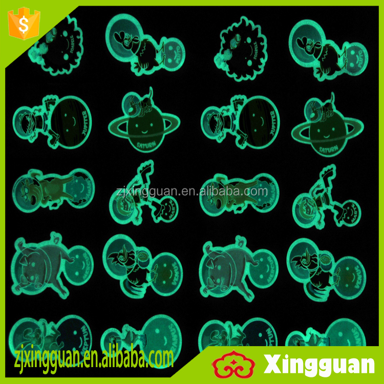 XG1000 china suppliers glow in the dark 3d puffy sticker