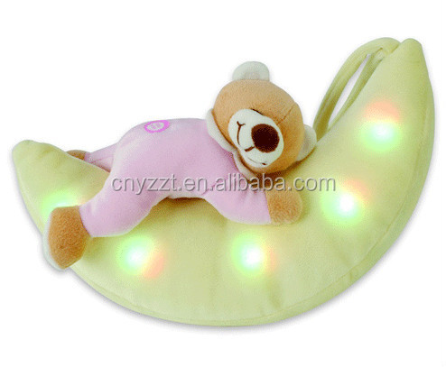 lighting animal plush toy/plush led night light/stuffed lighting plush toy