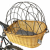 Empty comfortable wicker pet bicycle basket for rest