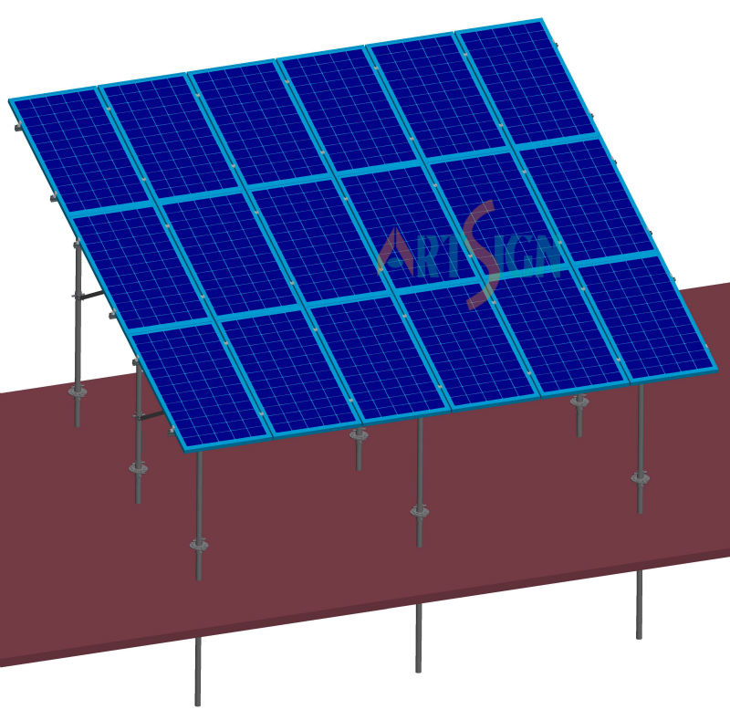 pv support structure for 100kw solar panel system