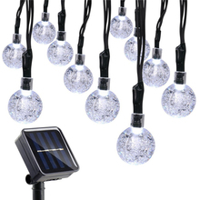 LED Fairy Lights Outdoor Solar Globe Solar String Lights for Home, Garden, Patio, Lawn, Party and Holiday