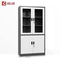 Ireland Popular Used Stainless Steel Mirror File Cabinet Metal Glass Doors Filing Cupboard Iron Storage Cabinet for Office