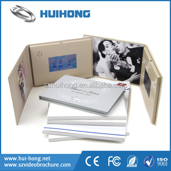 Paper Craft LCD Screen Video Banquet Invitation Card