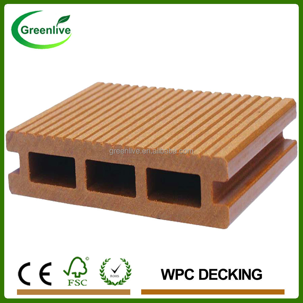 Lower Price Waterproof Outdoor Wood Plastic Composite Decking