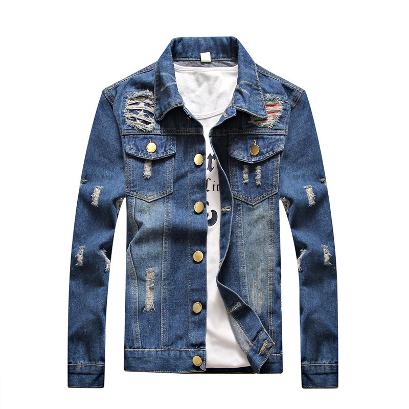 2017 spring autumn wholesale Men Comfortable Fashional Denim Jean Jacket