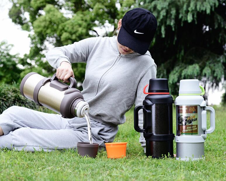 outdoor picnic stainless steel 4 liter thermos vacuum flask china bottle