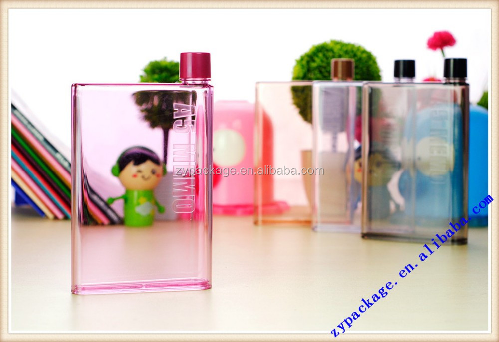 A5 plastic drinking water bottle mono notebook water drinking bottle for traveling