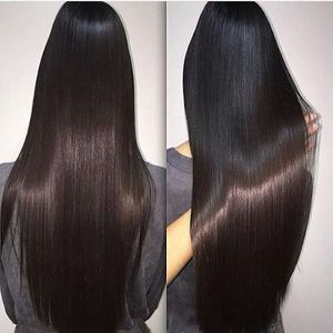 Wholesale price silky straight natural black long hair wig 100% Indian human hair 30 inch full lace wig