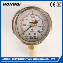 YTN-60 shake proof oil filled Manometer Liquid Filled Pressure Gauge