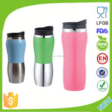 Wholesales BPA free Custom double wall vacuum auto stainless steel thermo travel mug with Handle