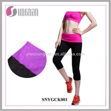 Fashion Yoga Outdoor Sports High Elastic Skinny Foldover Pants
