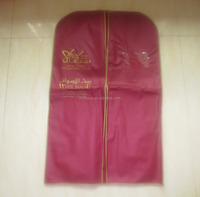 Quality top sell zipper pocket nonwoven garment bag
