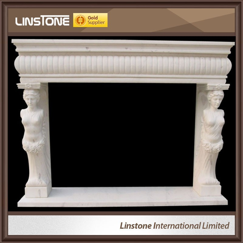 Home decoration natural fireplace with led flame