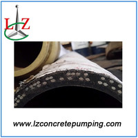 schwing dn125 concrete rubber fabric hose concrete spare parts 3m 4 layer steel wires