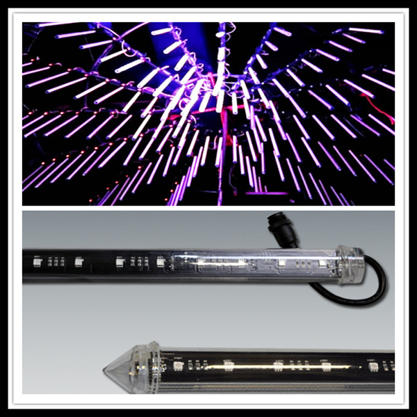 DMX shooting star 3D tube,LED Stage water wave dropping effect Light